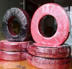 電子線UL1007紅黑并線鍍錫銅線
