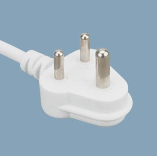 标准插头电源线SABS认证小南非插头电源线H05RR-F3*0.75mm