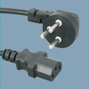 插头插头电线以色列SII插头电源线品字尾C13延长线H05RR-F3*1.0