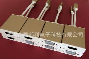 锌合金type-c 转vga连接线 笔记本转投影仪连接线 usb3.1转接线