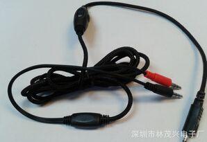 厂家供应头戴式电脑耳机线 编织音频线 一分二带音控语音耳麦