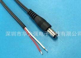 供应50cm DC5.5*2.1电源线 DC充电线 dc5521防水线 公母单头线