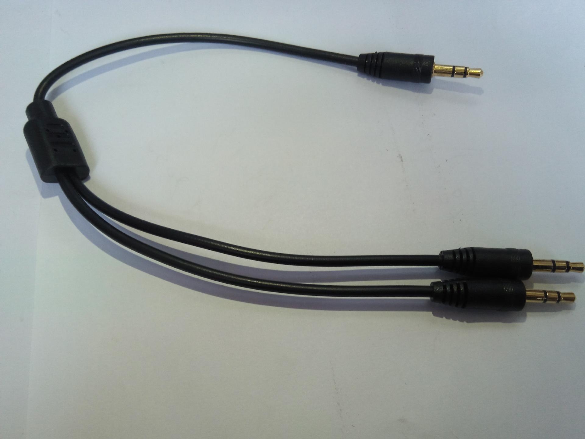 车载线 耳机一分二音频线 1分2转接线3.5公转3.5公 一分二DC线