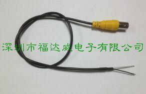 bnc单头线 BNC视频线 摄像机尾线 2芯线 监控连接尾线 1芯加地