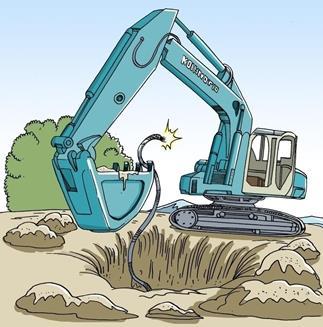 未拿到工钱 施工方掐断小区电线挖断路