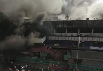 印尼首都一市场发生大型火灾