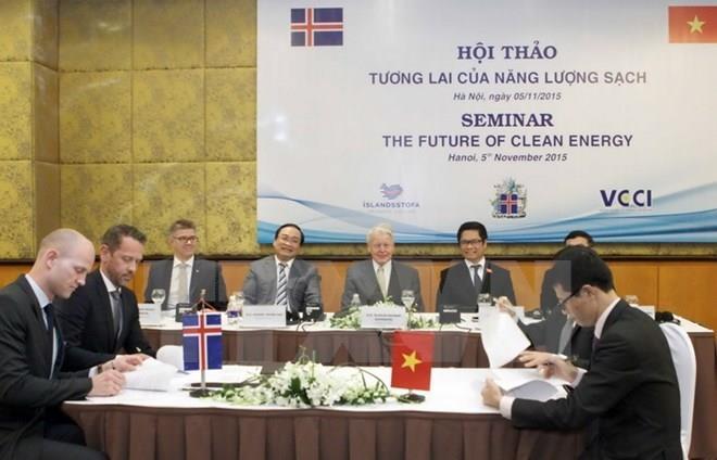 越南和冰岛将开展清洁能源合作