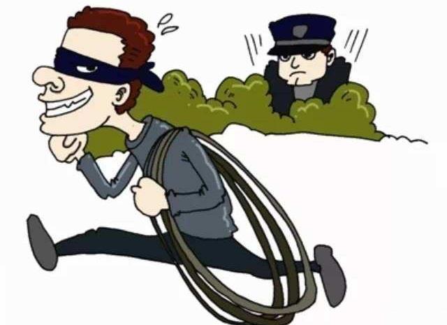 9次盗窃电缆 东营民警现场抓获一作案男子