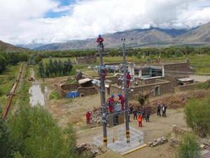 西藏首个中心村电网实现全面供电