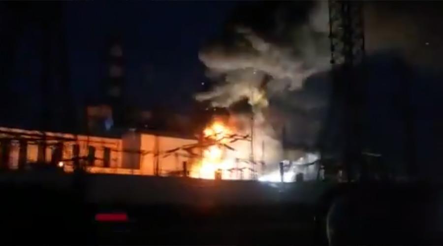 俄罗斯一热电联产发电站因短路发生火灾