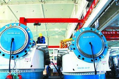 中国海装3兆瓦风电机组在重庆成功下线