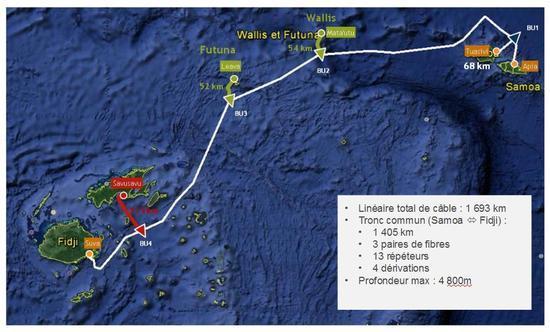 南太平洋Tui-Samoa海底光缆系统启动建设