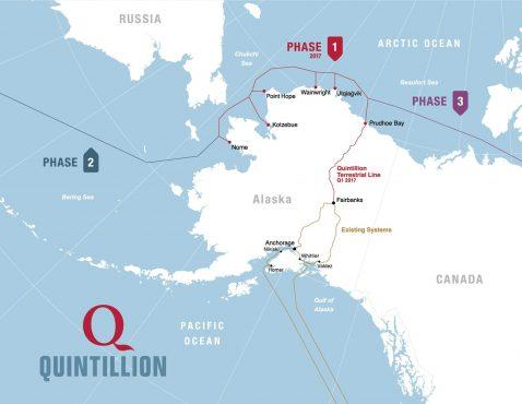 Quintillion海底光缆系统已在阿拉斯加启动服务