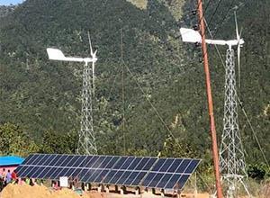 尼泊尔最大风能太阳能混合发电项目正式运营