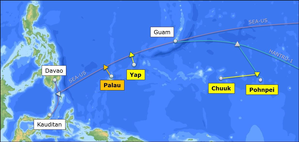 帕劳-关岛海底光缆系统即将投产