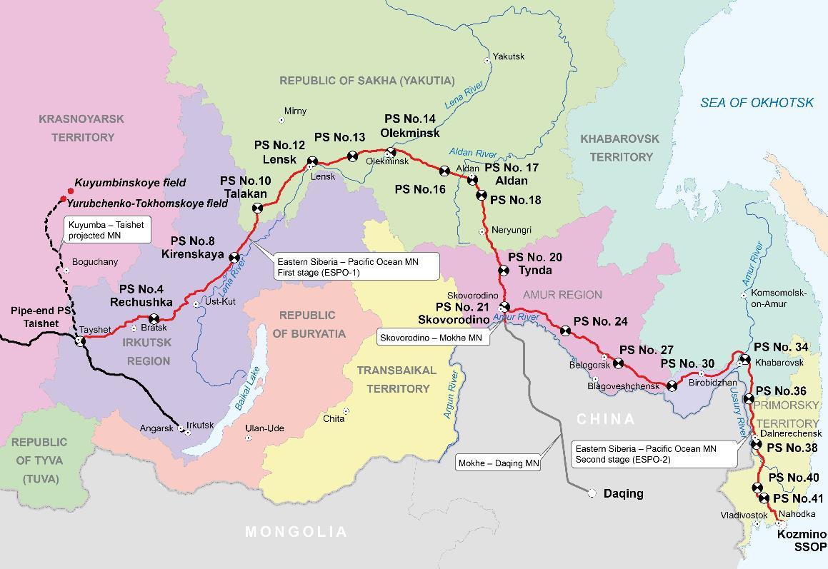 中国或投资俄罗斯石油运输公司Transneft