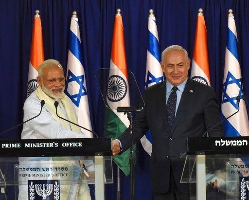印度和以色列签署油气领域合作等九份协议