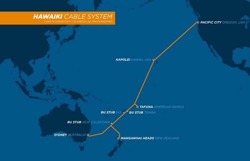 澳洲-美国海底光缆Hawaiki进度过半 拟于6月投产