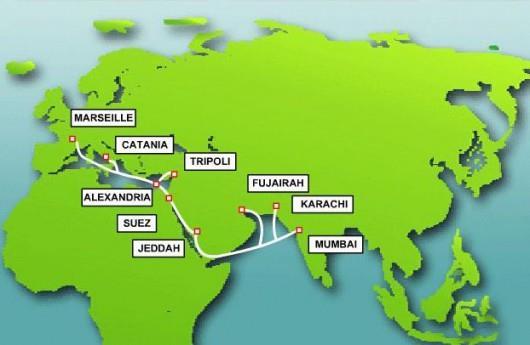印度-中东-西欧海底电缆进入正常维护