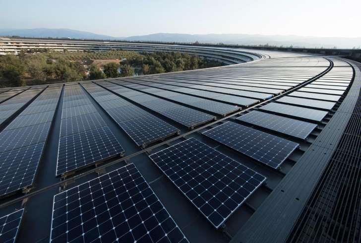 苹果全球运营设施实现100%可再生能源供电