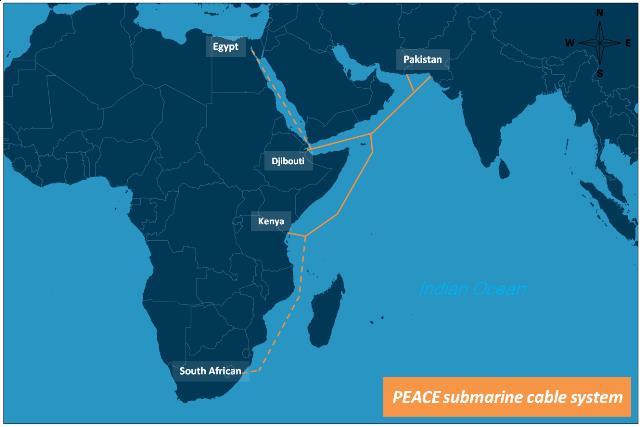 PEACE海底光缆系统巴基斯坦段即将启动建设