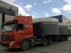 国电投青海共和450兆瓦风电项目首批基础环顺利发货