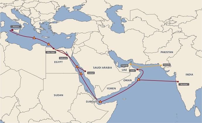 埃及电信9000万美元收购MENA海缆股份