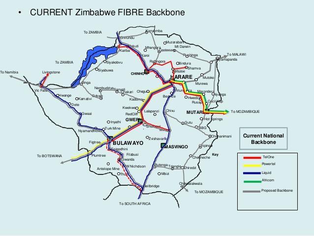 津巴布韦国家光纤连接项目进度完成过半