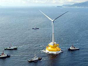 日本成功研制新一代海上风力发电系统的驳船式浮体