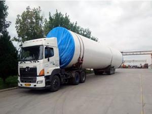 青海共和45万千瓦风电项目首批塔筒顺利发货