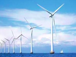 天津首个海上风电项目首批5台风力发电机正式并网发电