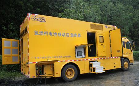 国内首台大功率氢燃料电池移动应急电源抗击台风山竹