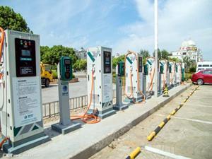 北京市顺义区最大的新能源汽车公用充电场站投入使用