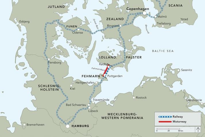 欧盟调查德国-丹麦公路铁路两用隧道项目公共融资