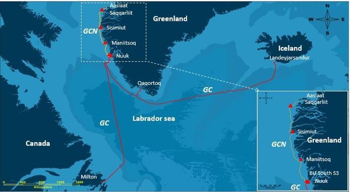格陵兰岛GC国际海缆系统恢复正常运营