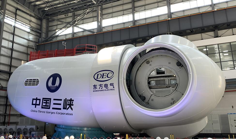 国内单机容量最大10MW海上风电机组下线