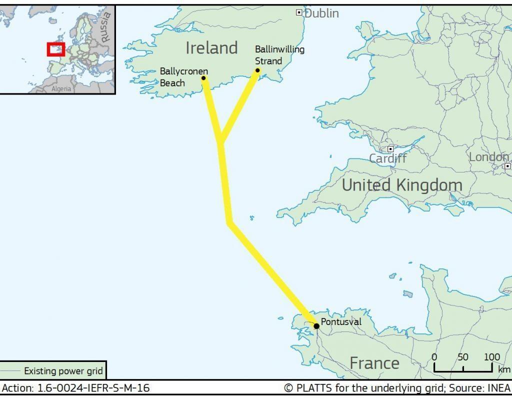 法国-爱尔兰电网互联项目获欧盟5.3亿欧元融资