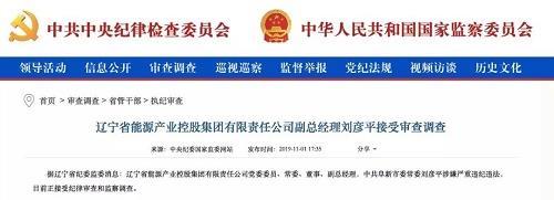 辽宁能源集团副总经理刘彦平被查