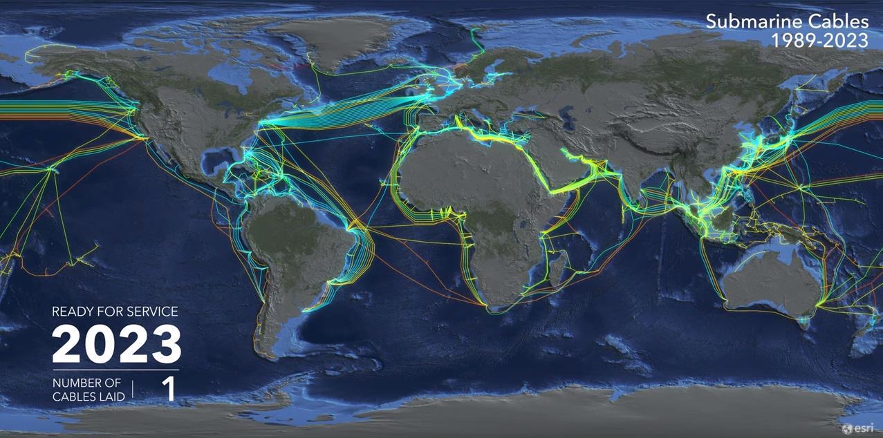 【图说海缆】全球海底通讯电缆35年发展里程