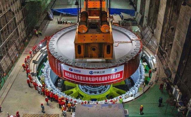 乌东德水电站首批4台发电机组全面进入总装阶段