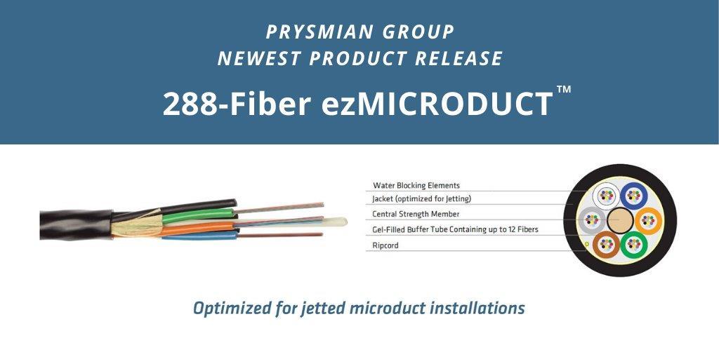 普睿斯曼发布最细微导管电缆 288根光纤外径仅8mm