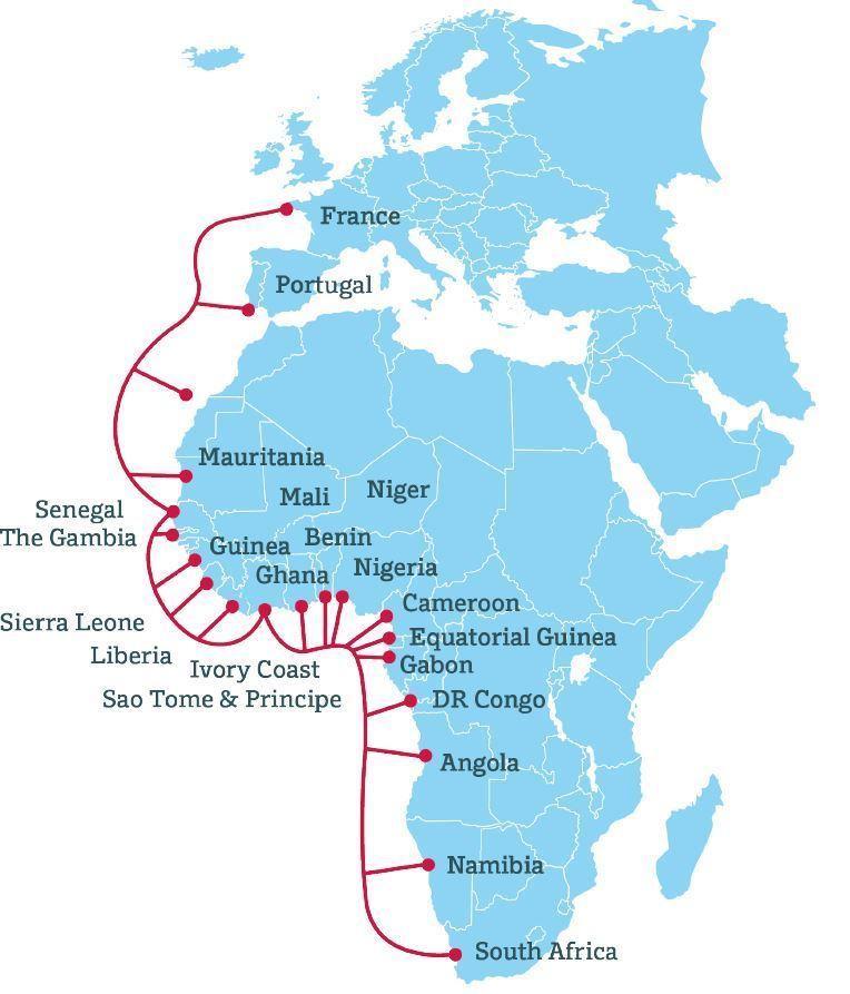 3月21日-26日ACE海缆进入维修期 非洲多国连接受影响