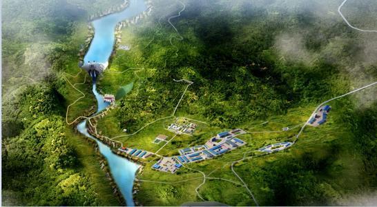 中企承建刚果(金)布桑加水电站水垫塘工程转序施工