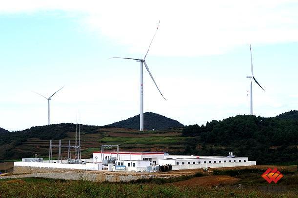 云南新能源洒谷风电场完成并网发电