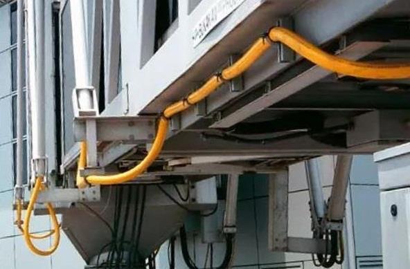 """电力小课堂│机场用柔性中频电缆,如何为飞机""""加油""""充电?"""