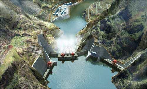 乌东德水电站第三台机组正式投产发电