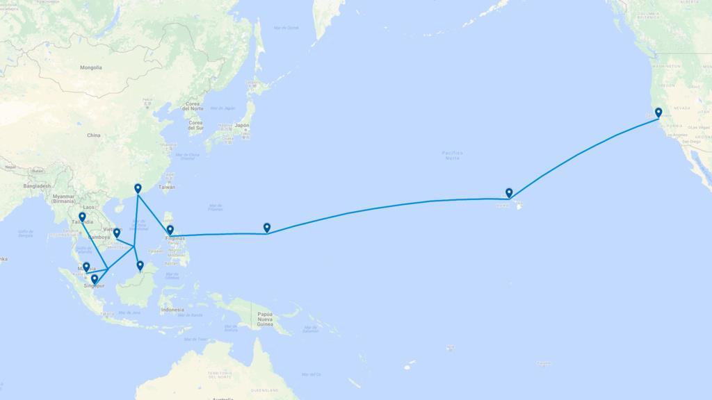 亚美网关海缆系统AAG启动一周紧急维护
