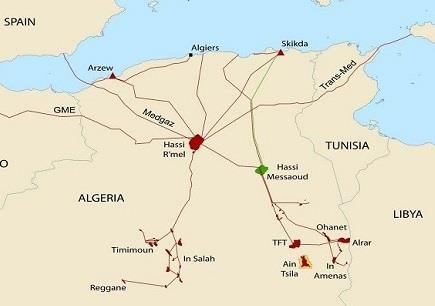 2020年阿尔及利亚石油天然气出口量下降11%