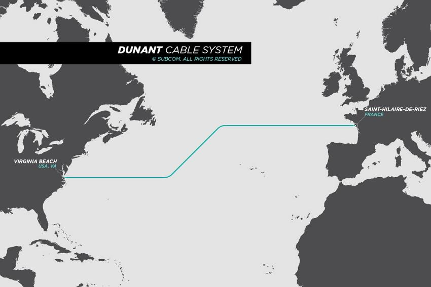 美国-法国海缆系统Dunant即将投入使用