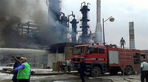 科威特最大油田发生大火 两名工人受伤